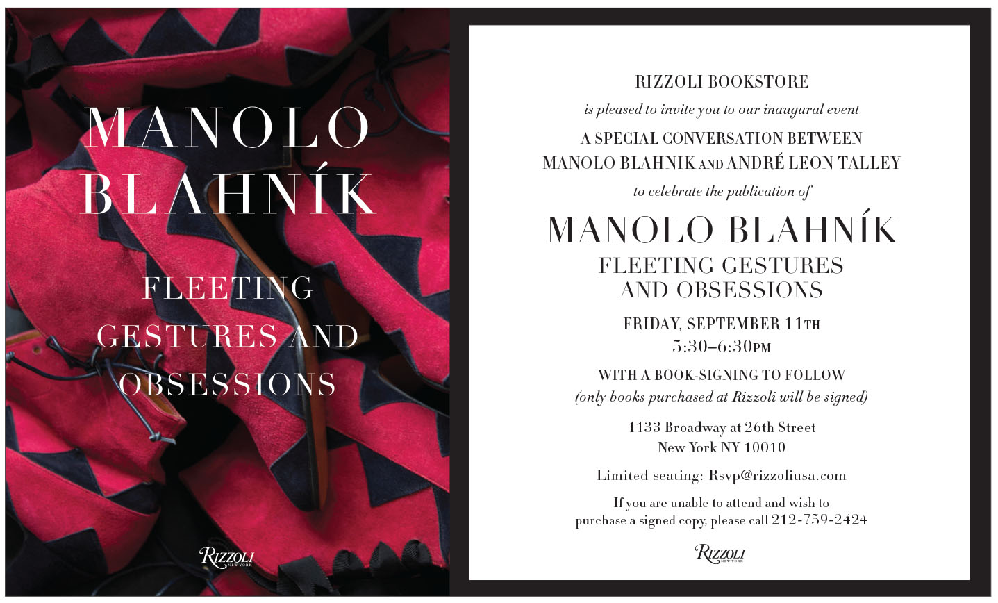 Manolo Blahnik Book Signing And Conversation With Andr Leon Talley