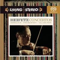 SIBELIUS/PROKOFIEV/GLAZUNOV VIOLIN CONCERTOS (HEIFETZ)