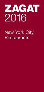 ZAGAT NEW YORK CITY RESTAURANTS (2016)