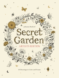 SECRET GARDEN ARTIST'S EDITION: 20 DRAWINGS TO COLOR AND FRAME
