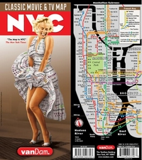 NEW YORK CITY: CLASSIC MOVIE AND TV MAP