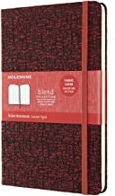 MOLESKINE BLEND LIMITED COLLECTION NOTEBOOK 2019, LARGE, RULED, RED (5 X 8.25)