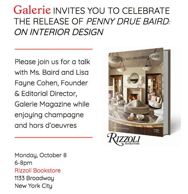 Penny Drue Baird On Interior Design Rizzoli Bookstore